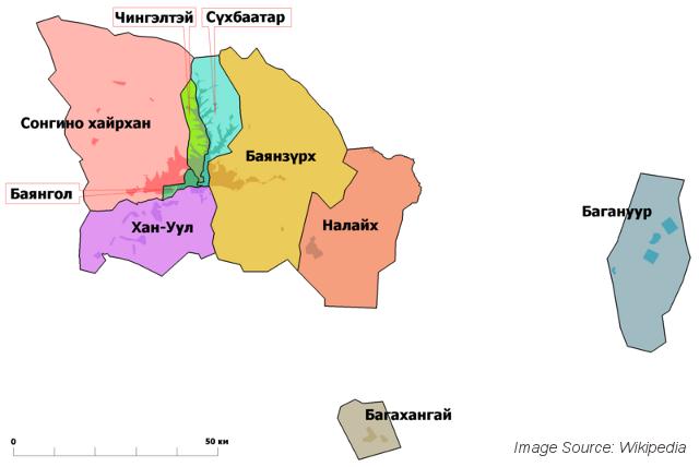 Ulaanbaatar districts