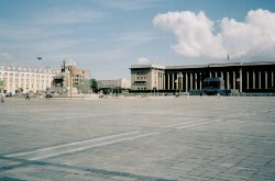Pre-boom Sukhbaatar Square and Government Building